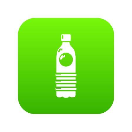 Water bottle icon green vector Illustration