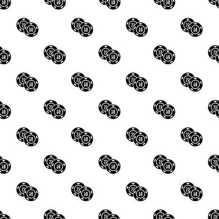 Casino chip pattern vector seamless