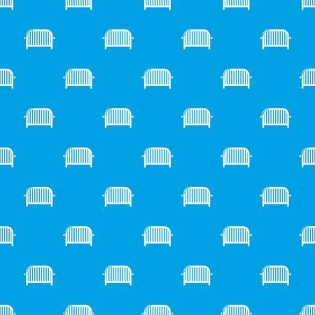 Fence speech pattern vector seamless blue Illustration