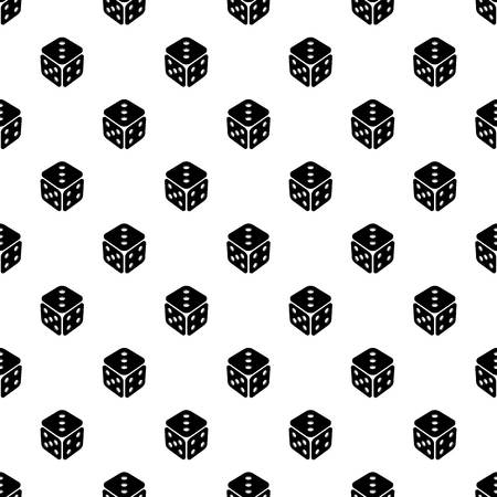Cube casino pattern vector seamless Vectores