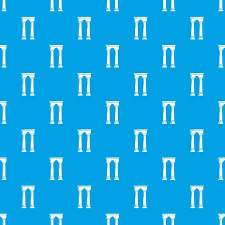 Archway egypt pattern vector seamless blue