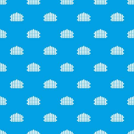 Palisade pattern vector seamless blue