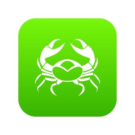 Big crab icon digital green Illustration