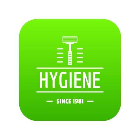 Hygiene face icon green vector