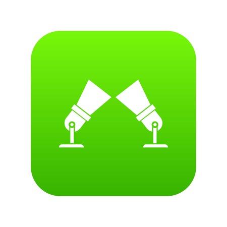 Floodlights icon digital green