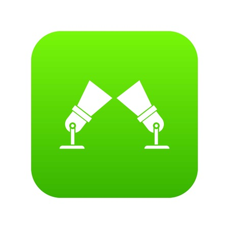 Floodlights icon digital green