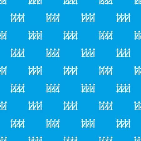 Fence wood pattern vector seamless blue Stock Illustratie