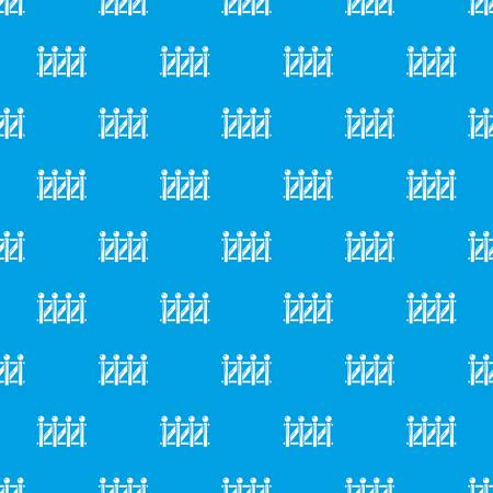 Fence wood pattern vector seamless blue Vettoriali