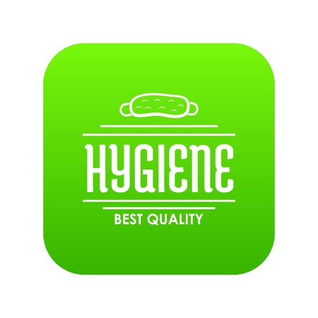 Hygiene bacteria icon green vector