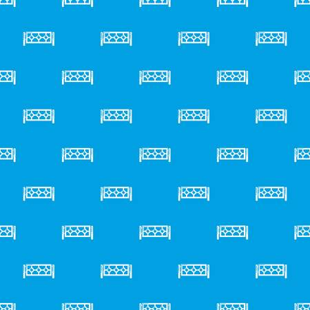 Fence pattern vector seamless blue