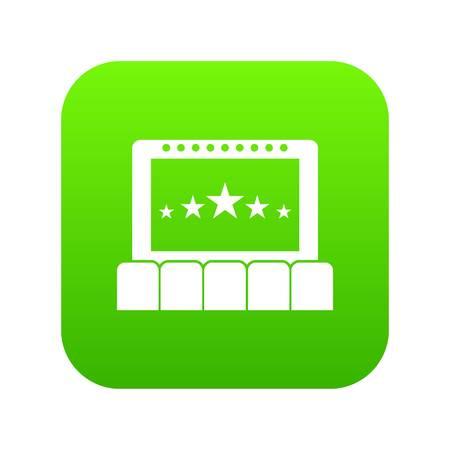 Cinema icon digital green Illustration