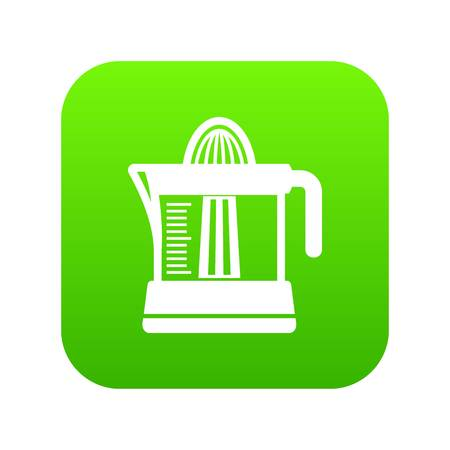 Juicer icon green vector