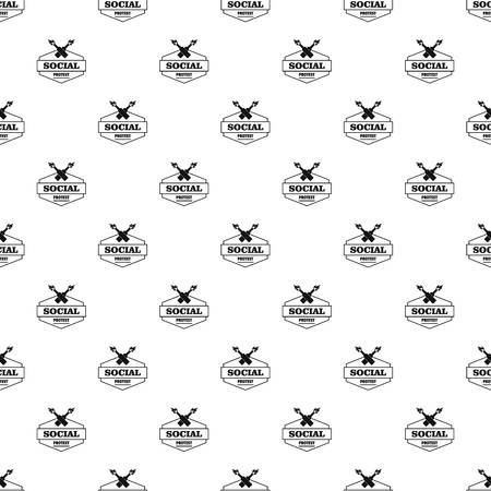 Social protest molotov cocktail pattern vector seamless
