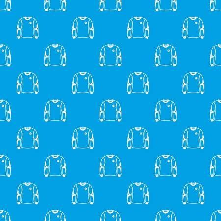Shirt goalkeeper pattern vector seamless blue
