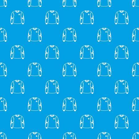 Shirt goalkeeper pattern vector seamless blue