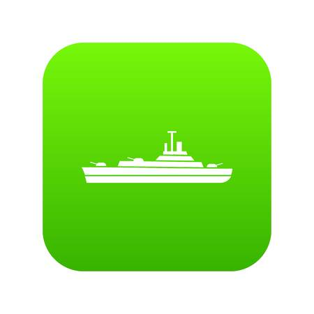 Warship icon digital green
