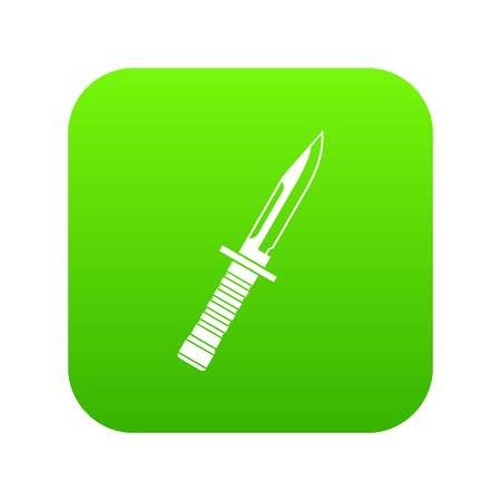 Military knife icon digital green Illustration
