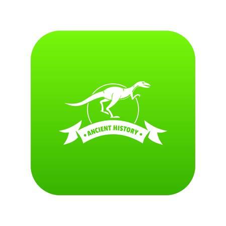 raptor icon green vector
