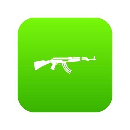 Military rifle icon digital green Illustration