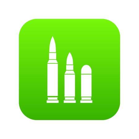 Bullets icon digital green