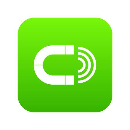 Magnet icon digital green