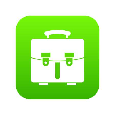 Diplomat bag icon digital green Illustration