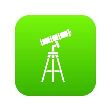 Telescope icon digital green