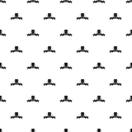 Gmo free food pattern vector seamless