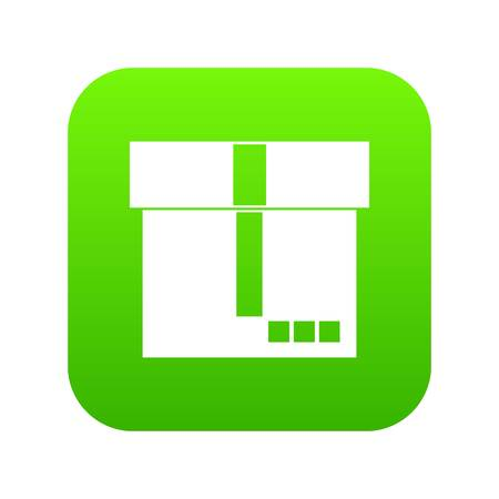 Box icon digital green