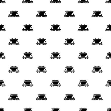 Goods train pattern vector seamless