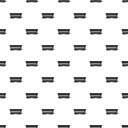 Freight car pattern vector seamless