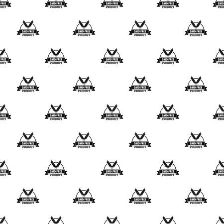 Gmo free bakery pattern vector seamless