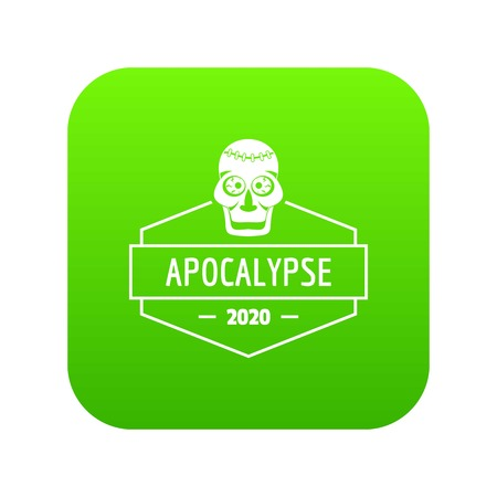 Zombie monster icon green vector