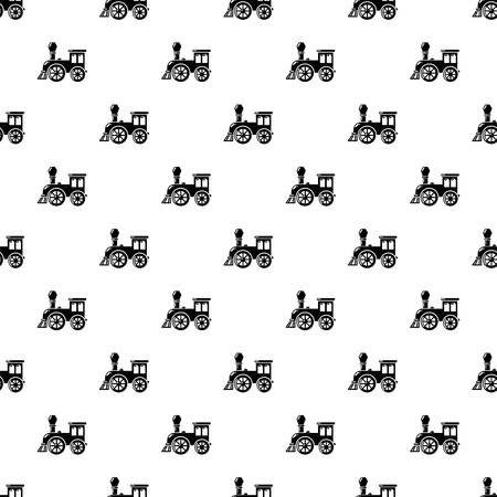 Old train pattern vector seamless
