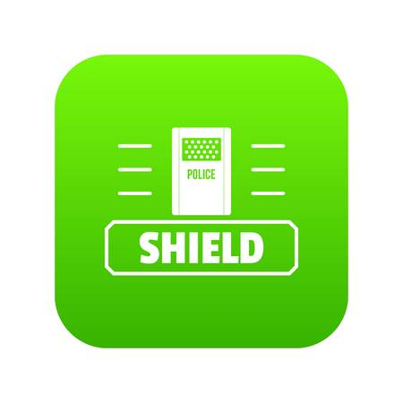 Social protest shield icon green vector