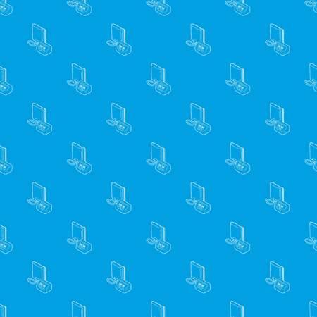 Tonometer pattern vector seamless blue Vettoriali