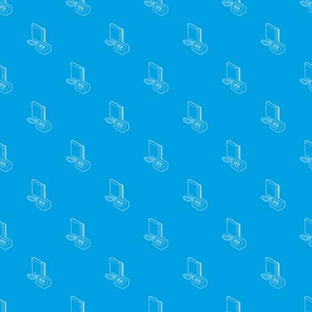Tonometer pattern vector seamless blue Illustration