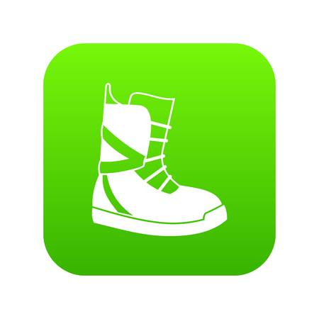 Boot for snowboarding icon digital green