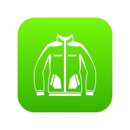 Men winter jacket icon digital green Illustration