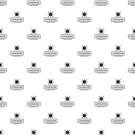 Clothes button pattern vector seamless