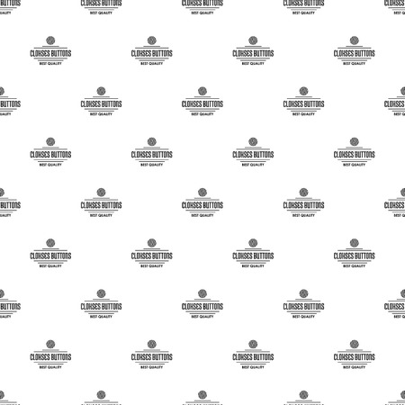 Clothes button accessory pattern vector seamless 일러스트