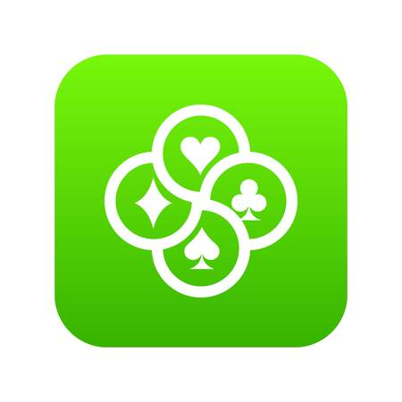 Chip icon green vector