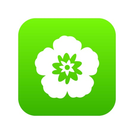 Rose of Sharon, korean flower icon digital green