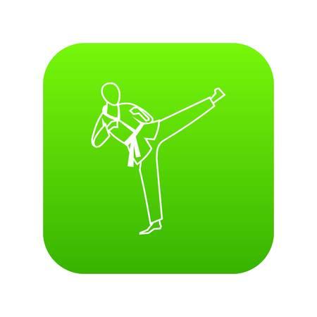 Wushu master icon digital green