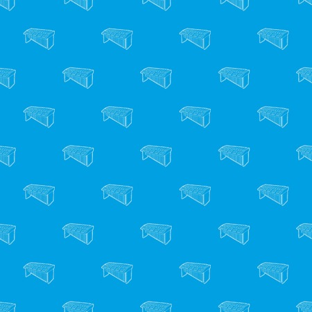Synthesizer pattern vector seamless blue
