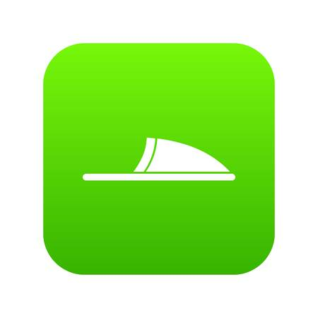 Slippers icon digital green for any design isolated on white vector illustration Ilustracja