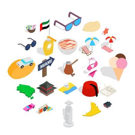Social behavior icons set. Isometric set of 25 social behavior vector icons for web isolated on white background