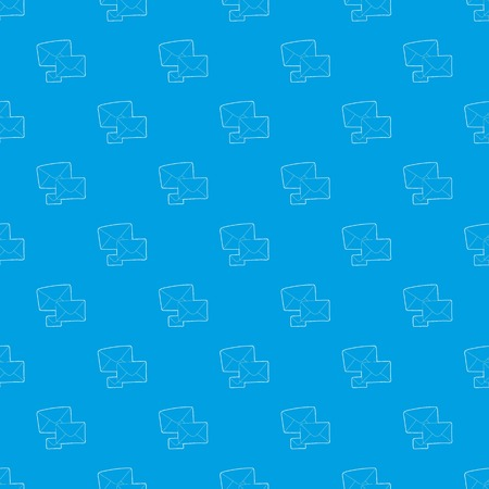 Letter pattern vector seamless blue repeat for any use Illustration
