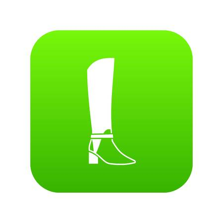 b5ab4b017fa2 Women high boots icon digital green for any design isolated on white vector  illustration