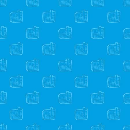 Arrow download file pattern vector seamless blue repeat for any use